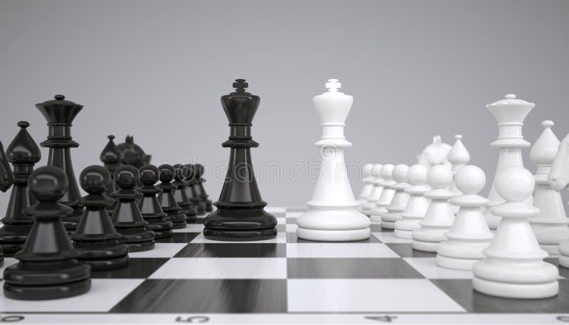 Zwei Könige mitten in einem Schachbrett vektor abbildung