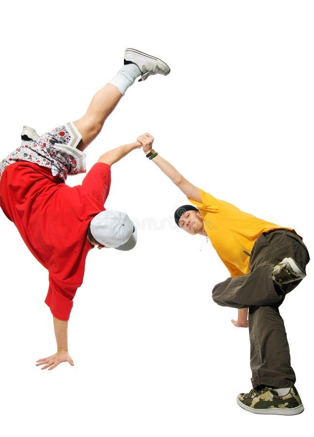Zwei kühle Hip-hopjunge Männer stockbild