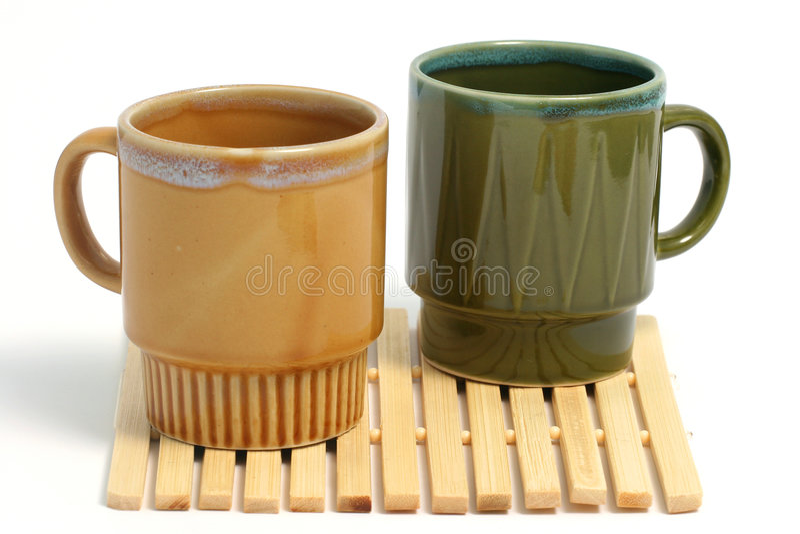 Zwei Kaffeetassen lizenzfreie stockfotografie