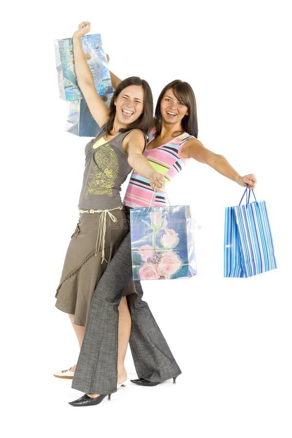 Zwei kaufenfrauen lizenzfreie stockfotografie