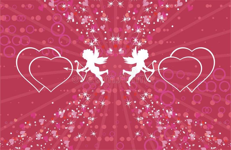 Zwei kleine Amoren vektor abbildung