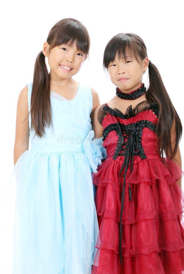 Zwei Kleine Asiatische Mädchen Stockfotografie