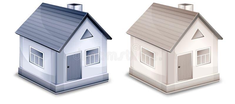 Zwei kleine Dorfhäuser vektor abbildung