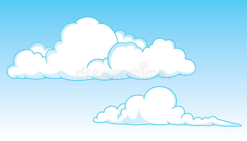 Zwei Kumuluswolken stock abbildung