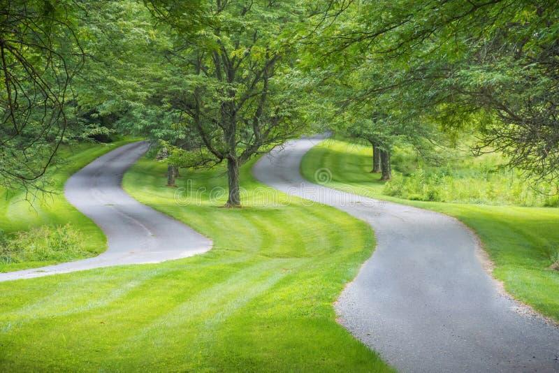 Zwei kurvenreiche Straßen lizenzfreie stockfotos