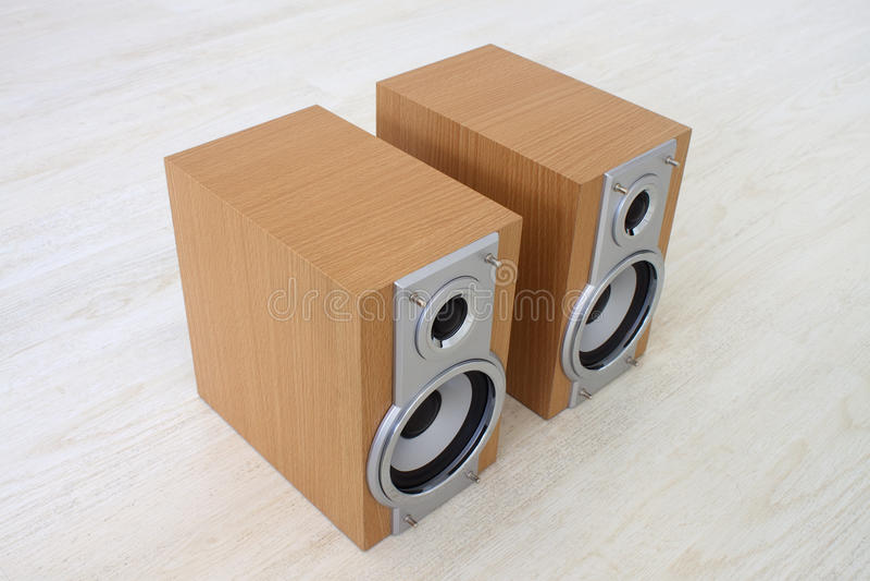 Zwei Lautsprecher lizenzfreie stockbilder