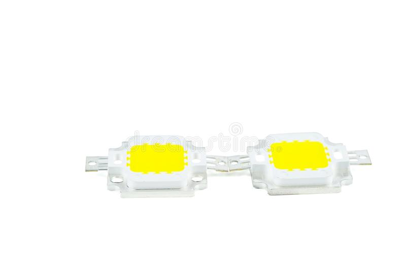 Zwei LEDs für die LEDs für die LEDs für die LEDs mit hoher Leistung lizenzfreies stockfoto