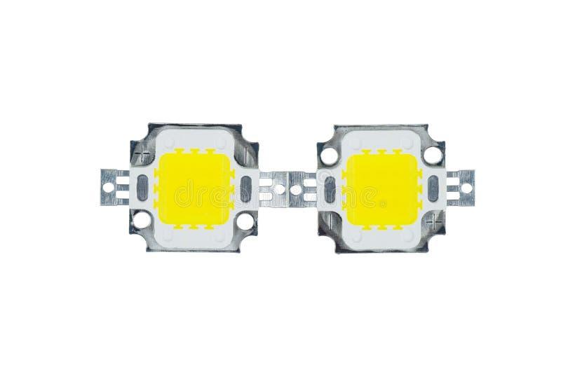 Zwei LEDs für die LEDs für die LEDs für die LEDs mit hoher Leistung lizenzfreies stockbild