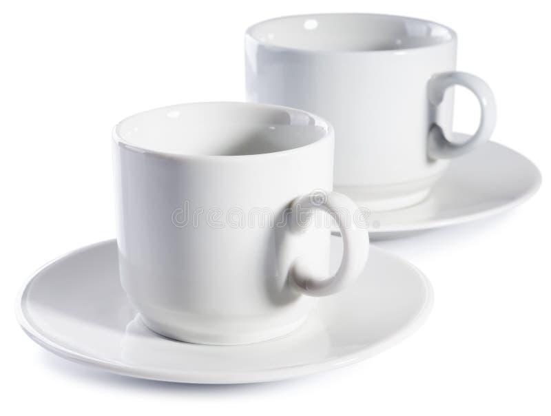 Zwei leere Cup stockbild