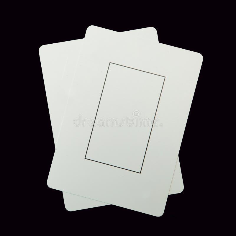 Zwei leere Spielkarten stockfotos
