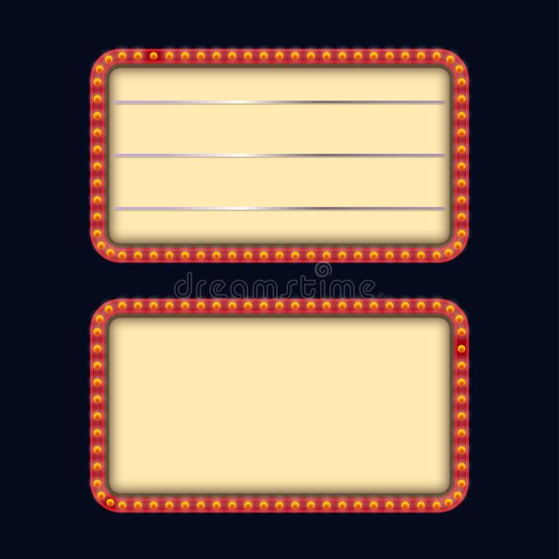 Zwei lightbox 15 stock abbildung