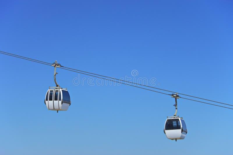 Zwei Luftseilzug Kabinen lizenzfreies stockfoto