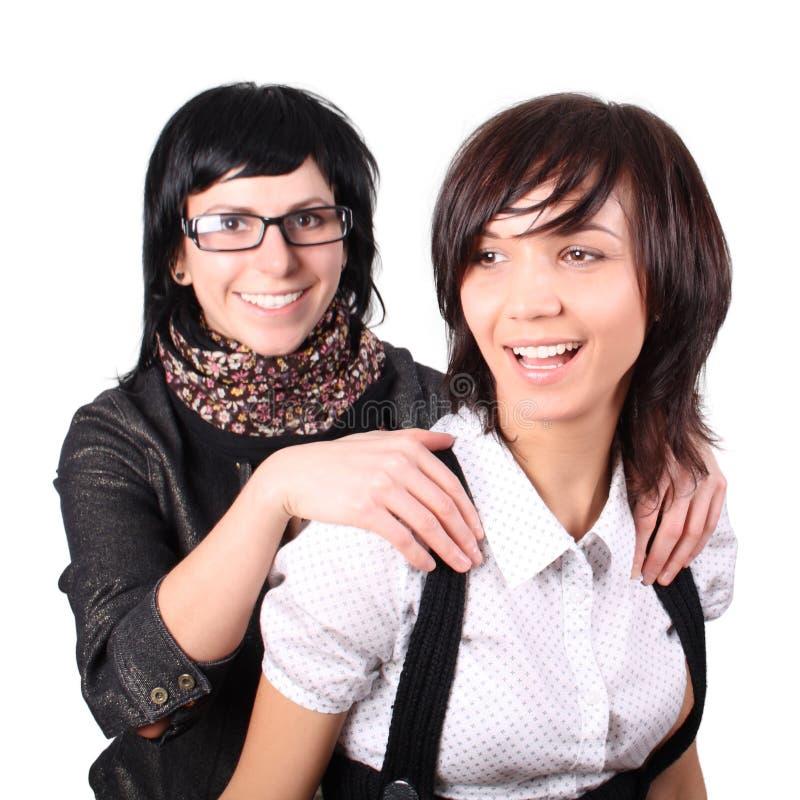 Zwei lustige Mädchen lizenzfreie stockfotografie
