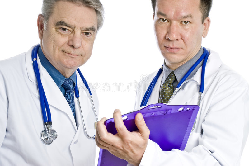 Zwei männliche Doktoren lizenzfreie stockfotos