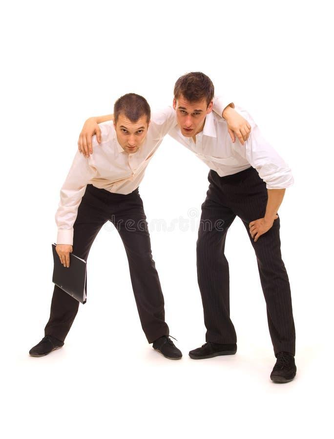 Zwei müde Geschäftsmänner lizenzfreie stockfotos