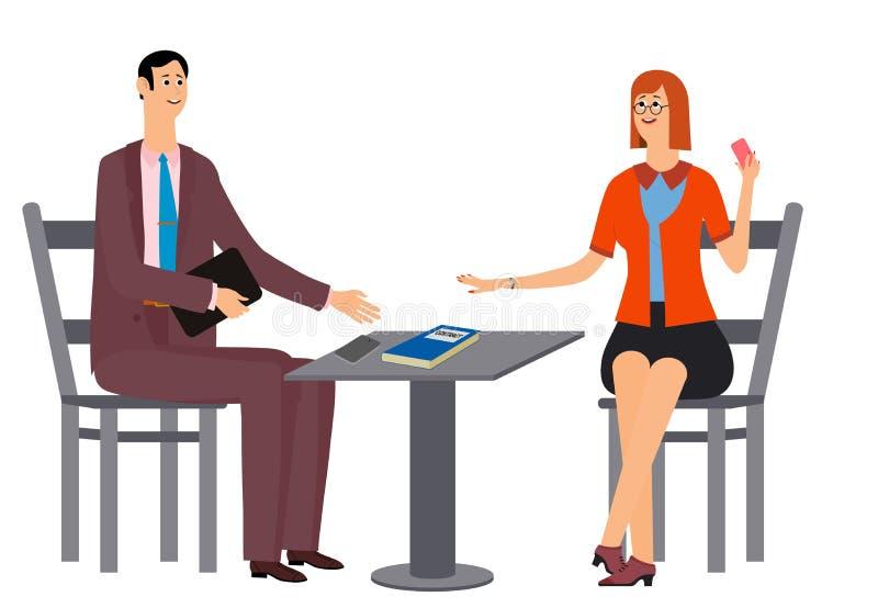 Zwei Manager freuen sich im Erfolg Auch im corel abgehobenen Betrag stock abbildung
