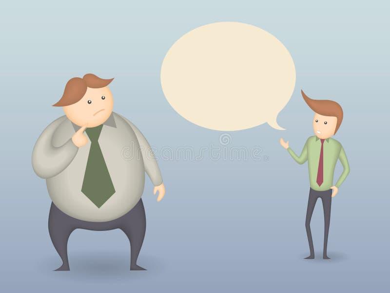 Zwei Mann-Gespräch lizenzfreie abbildung