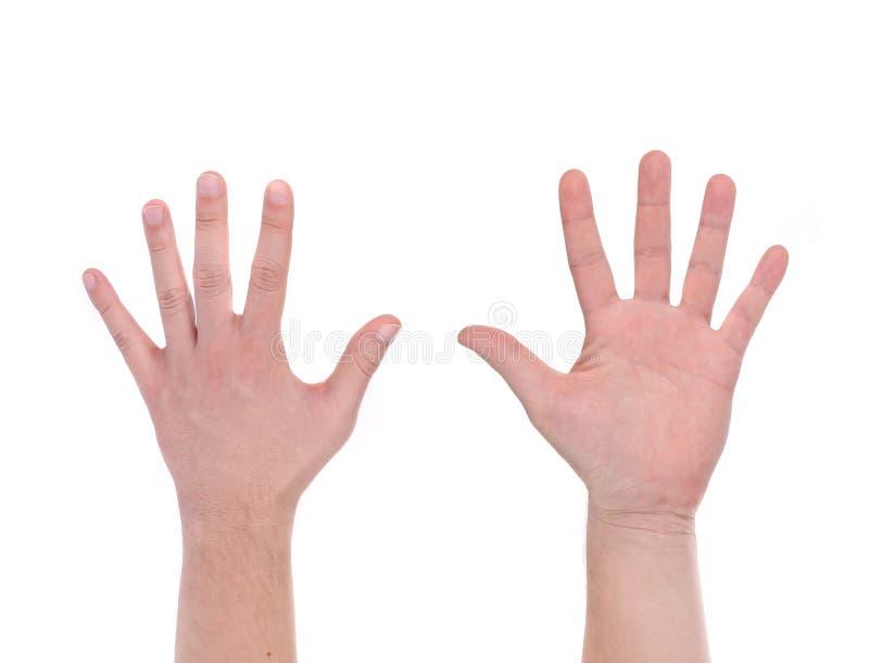 Zwei-mannhände stockfotos