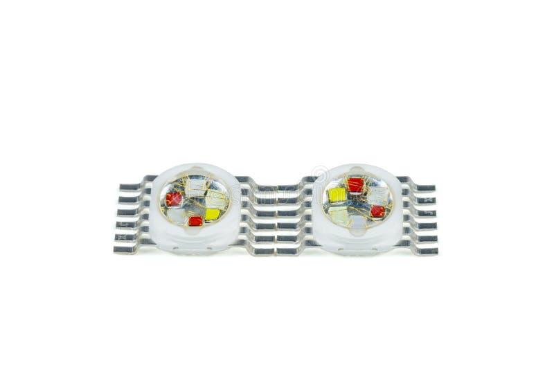 Zwei mittlere Energie SMD RGBYVW LED lizenzfreies stockbild