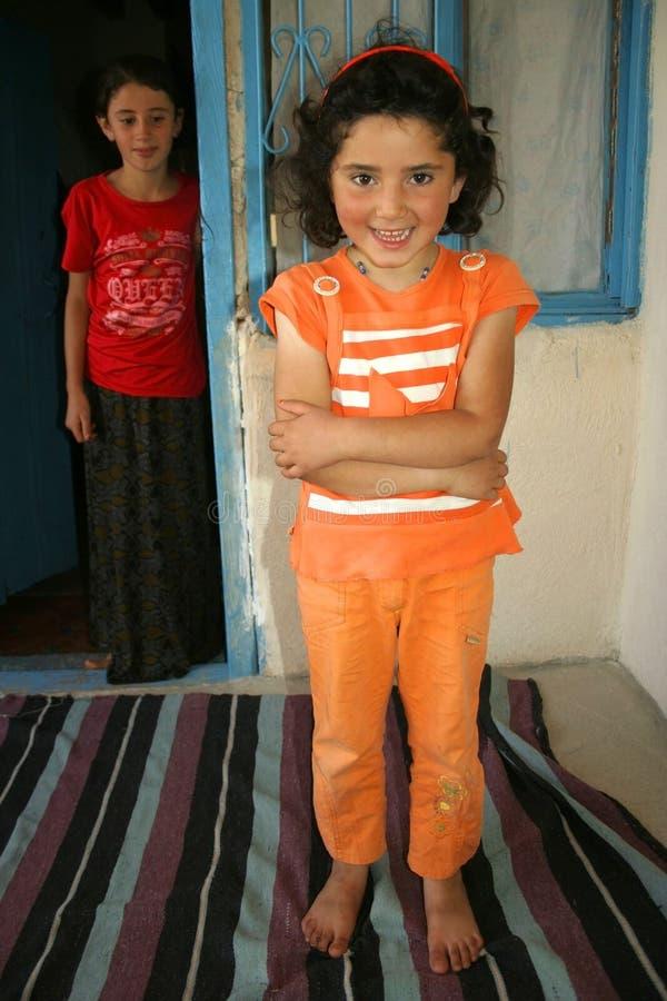 Zwei nette Mädchen stockbild