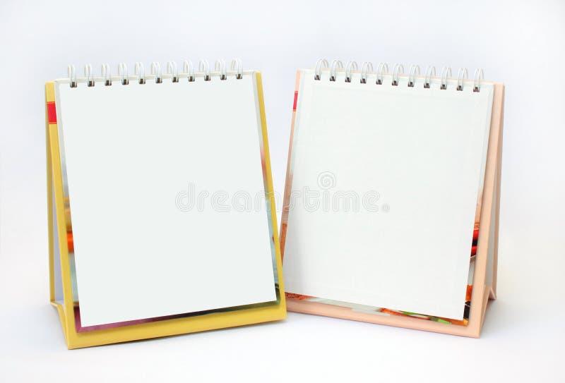 Zwei Notizbücher mit leeren Seiten stockfoto