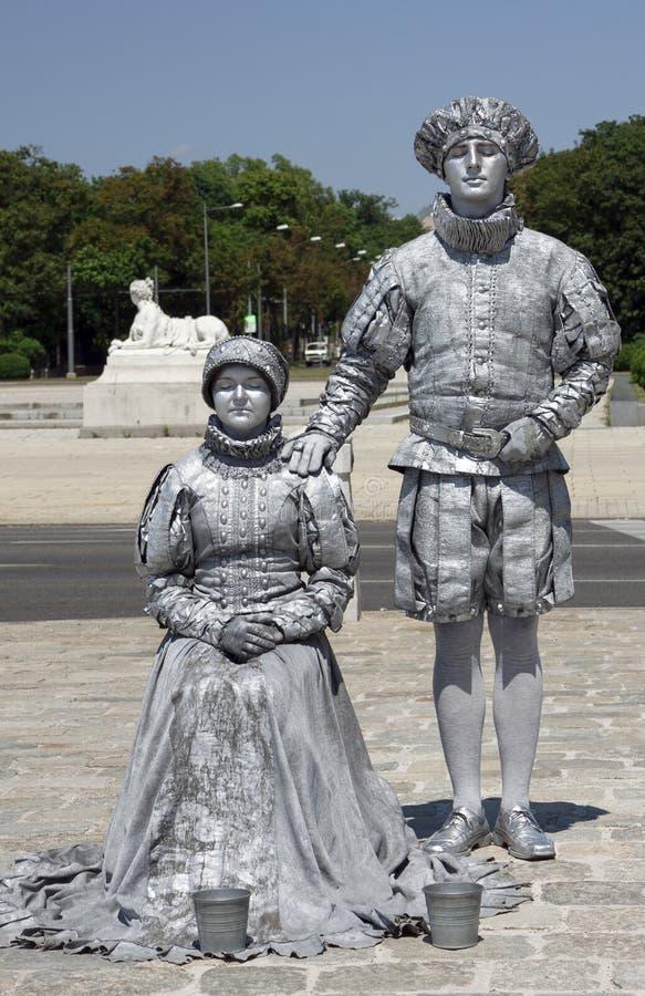 Zwei Pantomimen stockfoto