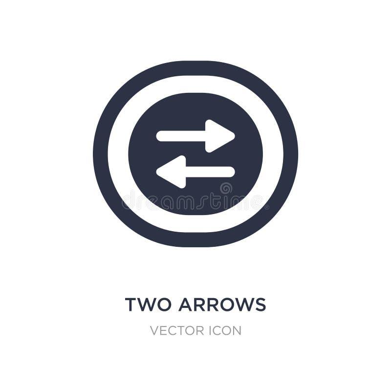 zwei Pfeile, die rechte und linke Ikone auf weißem Hintergrund zeigen Einfache Elementillustration von UI-Konzept stock abbildung