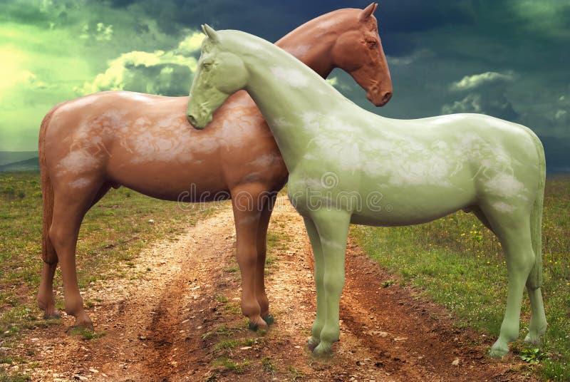 Zwei Pferde stock abbildung