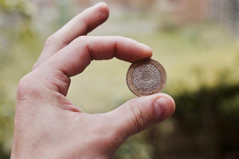 Zwei Pfund Münze lizenzfreie stockfotos