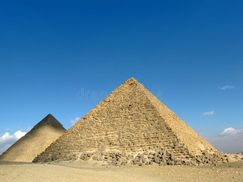 Zwei Pyramiden Giza, Ägypten stockfoto