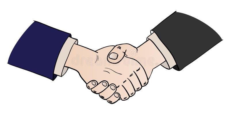 Zwei rüttelnde Hände lizenzfreie abbildung