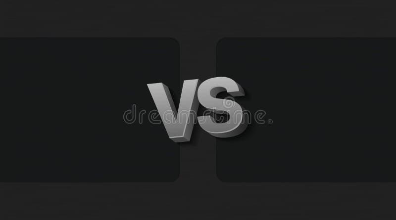 Zwei Rahmen und GEGEN Buchstaben vektor abbildung