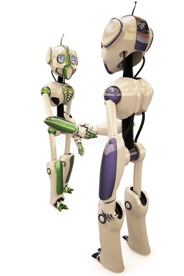 Zwei Roboter lizenzfreie abbildung