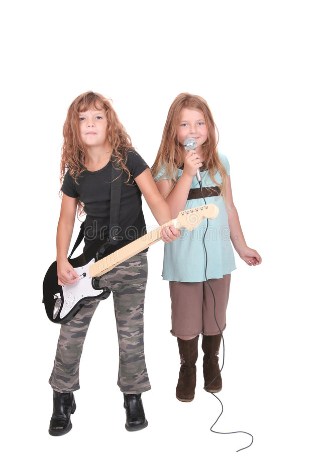 Zwei rockstar Kinder lizenzfreie stockfotografie