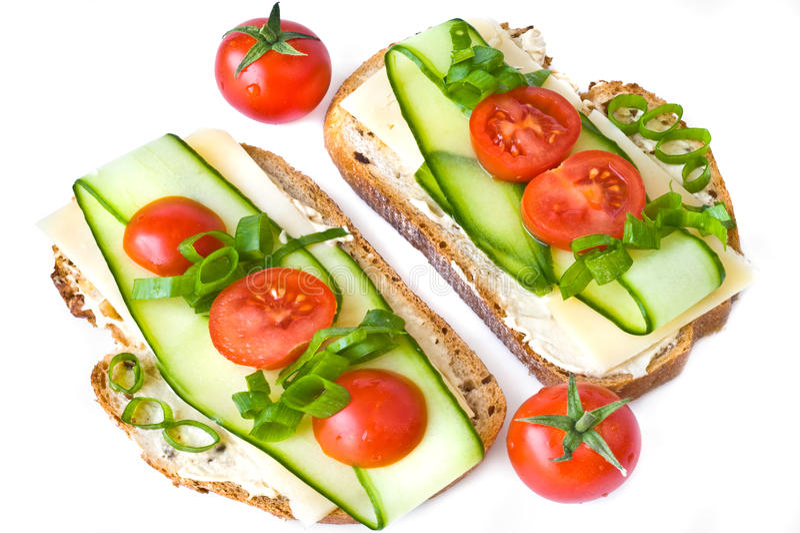 Zwei Sandwiche lizenzfreies stockbild