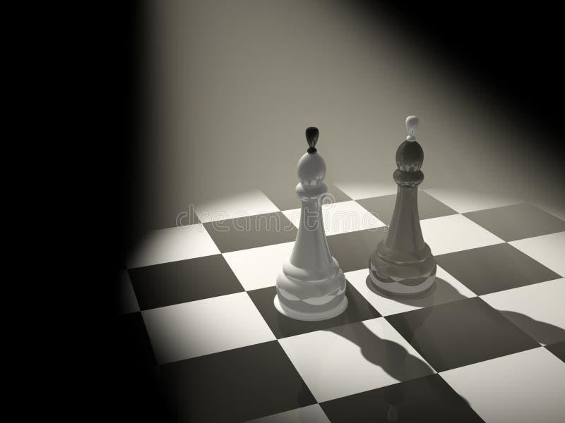 Zwei Schachkönige vektor abbildung