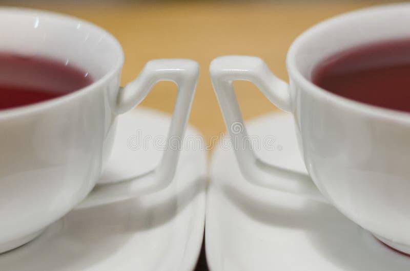 Zwei Schalen roter Tee lizenzfreies stockfoto
