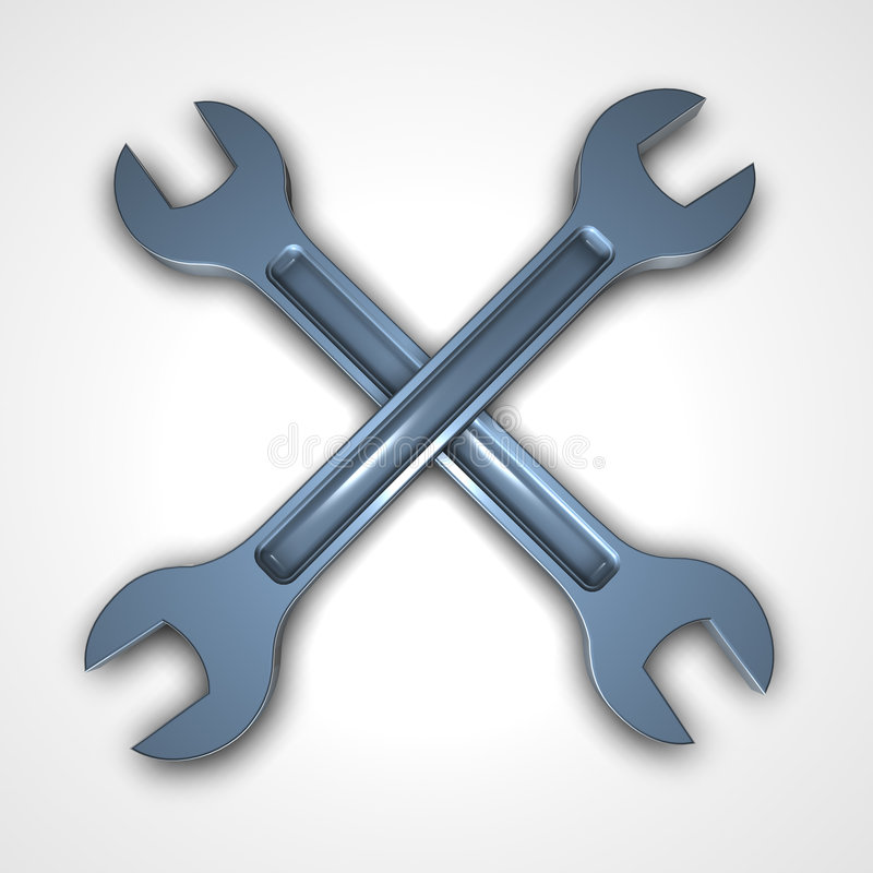 Zwei Schlüssel lizenzfreie abbildung