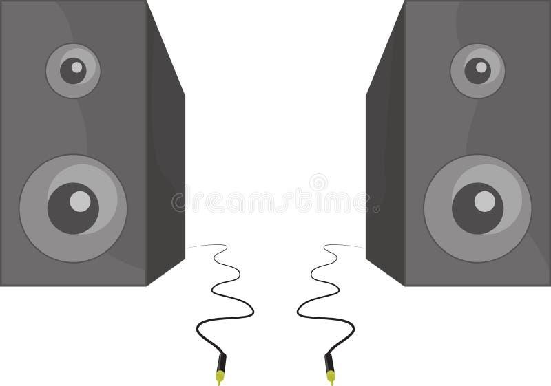 zwei schwarze sprecher des vektors die neben jedem stehen. Black Bedroom Furniture Sets. Home Design Ideas