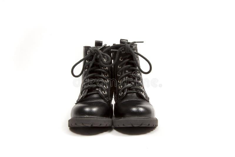 Zwei schwarze Stiefel stockfotografie