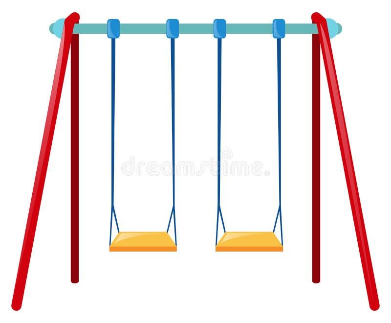 Zwei Schwingen auf blauer Stange vektor abbildung