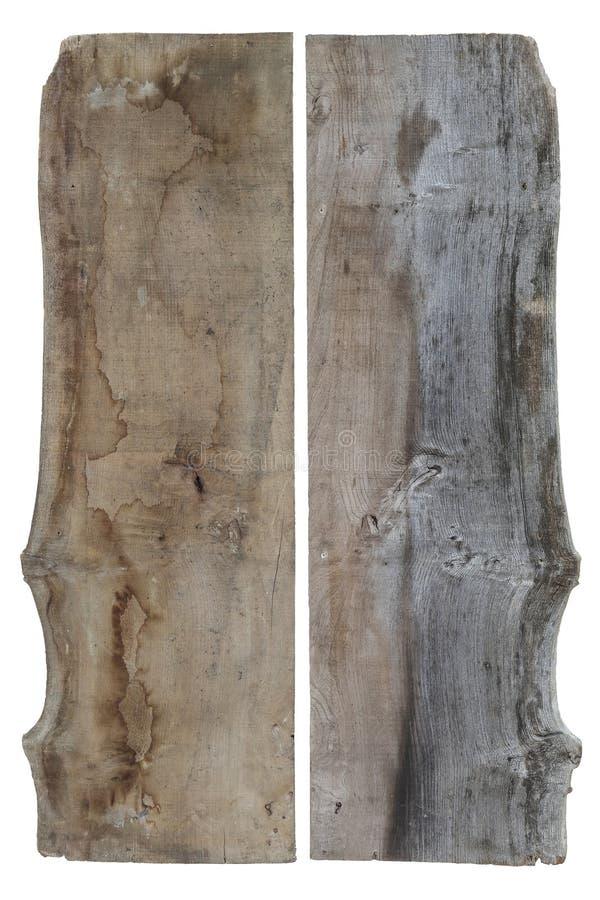 Zwei Seiten alt von der Ulmen-Holz-Planke stockfotos