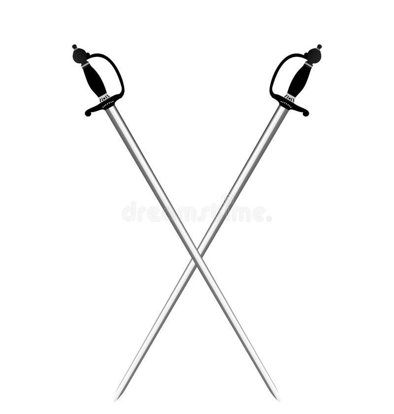 Zwei silberne Klingen vektor abbildung