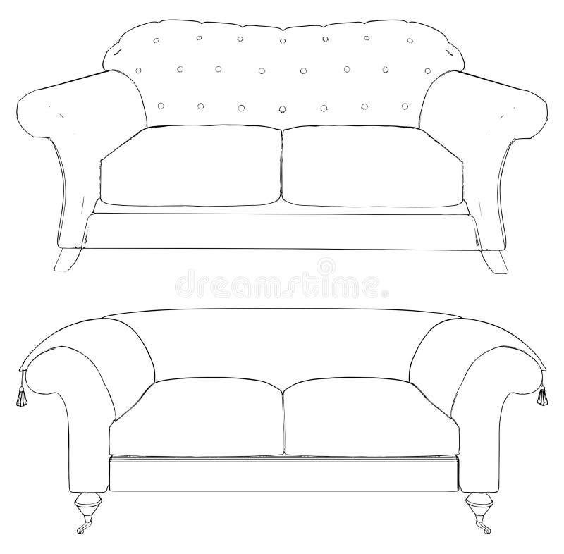 Zwei Sofa-Vektor 12 vektor abbildung