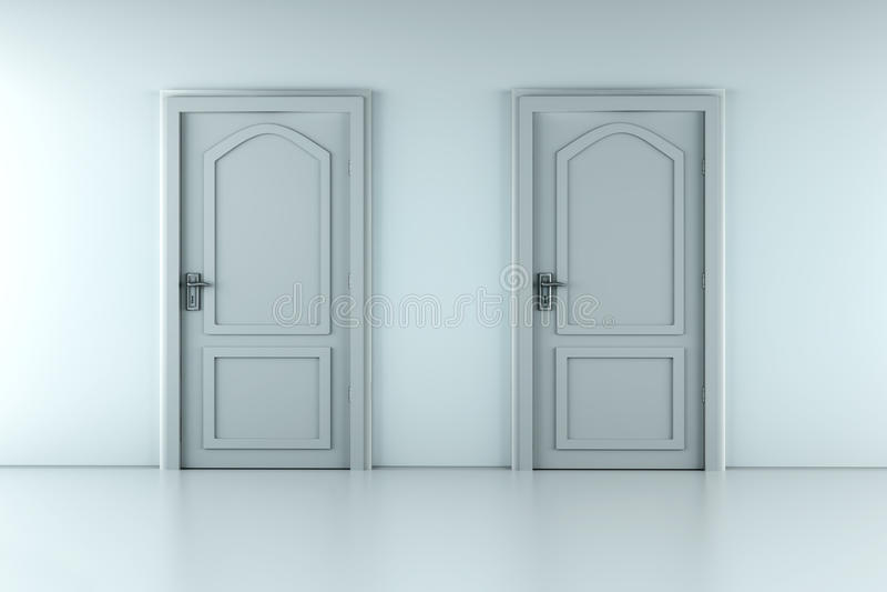 Zwei Türen stock abbildung