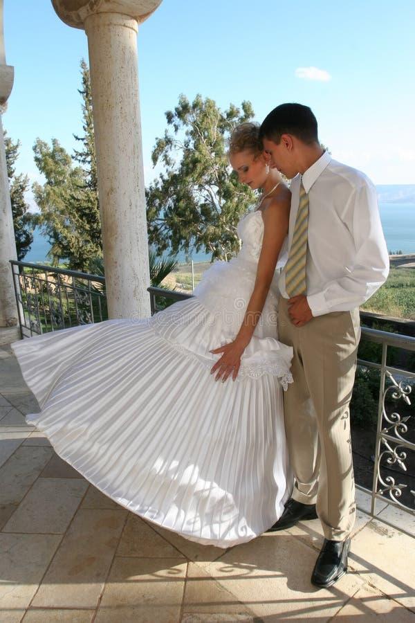 Zwei am Tag der Hochzeit. lizenzfreie stockbilder