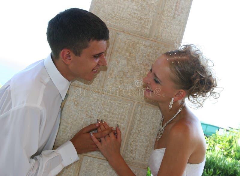 Zwei am Tag der Hochzeit. stockbild