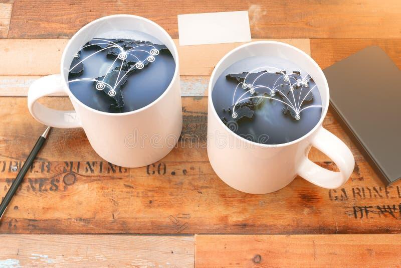 Zwei Tasse Kaffee lizenzfreie abbildung