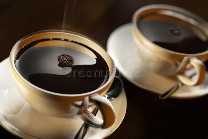 Zwei Tasse Kaffees lizenzfreies stockbild
