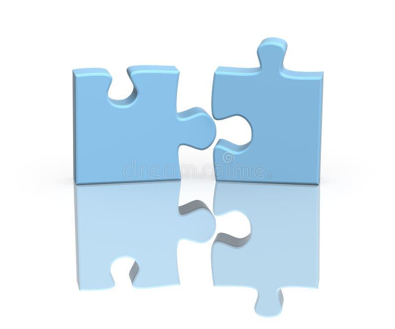 Zwei Teile eines Puzzlespiels stock abbildung